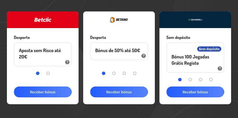 Códigos bónus para casas de apostas e casinos legais em Portugal